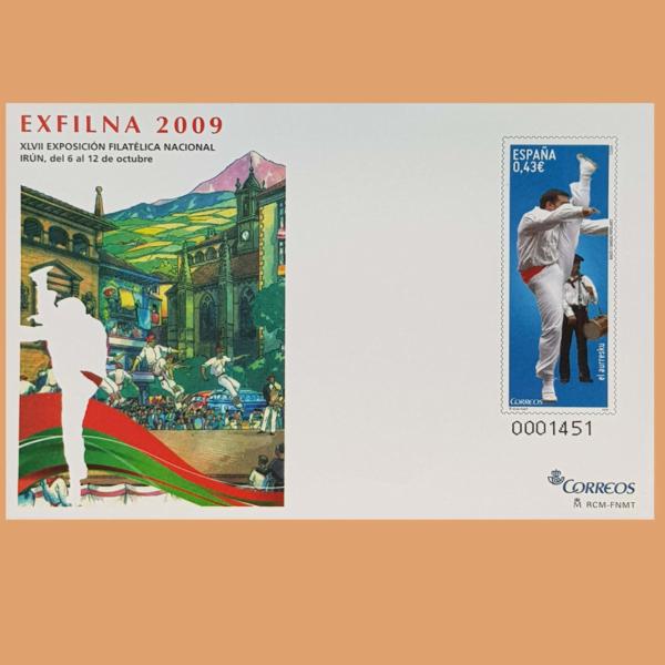 Sobre Enteros Postales 127. EXFILNA 2009. Irún, 6-12 Octubre