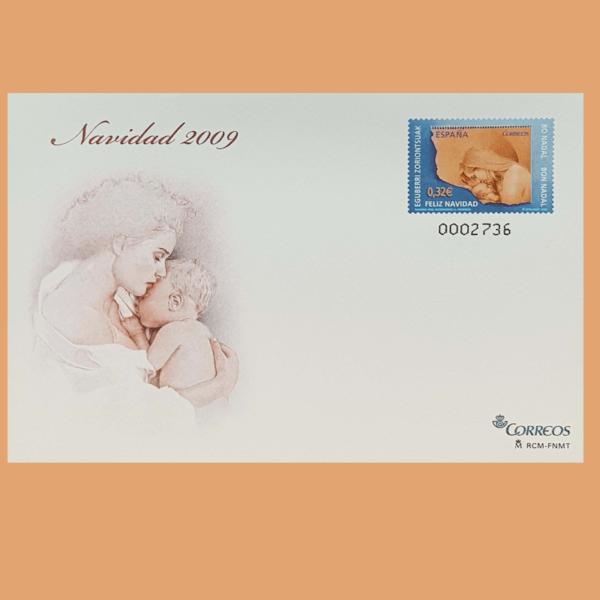 Sobre Enteros Postales 128. Navidad 2009