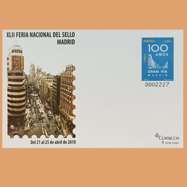 Sobre Enteros Postales 129-130. XLII Feria Nacional del Sello 2010