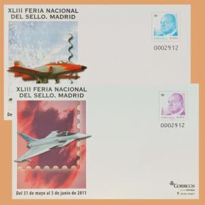Sobre Enteros Postales 132-133. XLIII Feria Nacional del Sello 2011