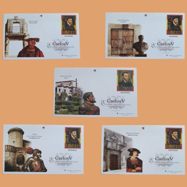 Sobre Enteros Postales 65-66. V Centenario del nacimiento de Carlos V. 2000