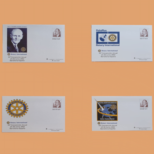 Sobre Enteros Postales 80. 93ª Convención Anual del Rotary International. Barcelona 2002