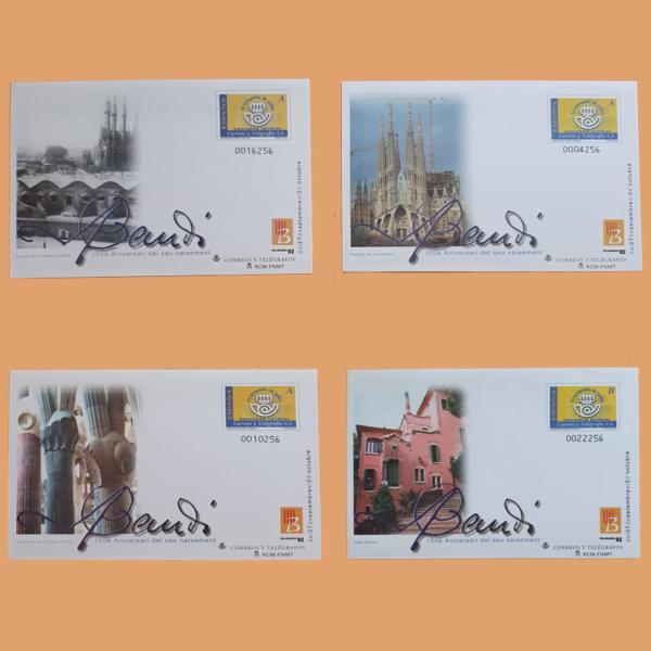 Sobre Enteros Postales 81-82. Feria y Exposición Filatélica FILABARNA 2002. Barcelona
