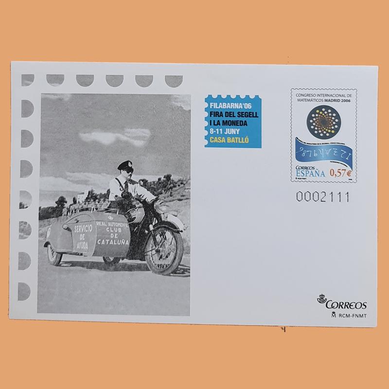 Sobre Enteros Postales 110-111. FILABARNA'06. Barcelona 2006