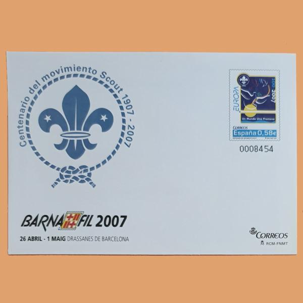 Sobre Enteros Postales 114-115. BARNAFIL 2007. Barcelona