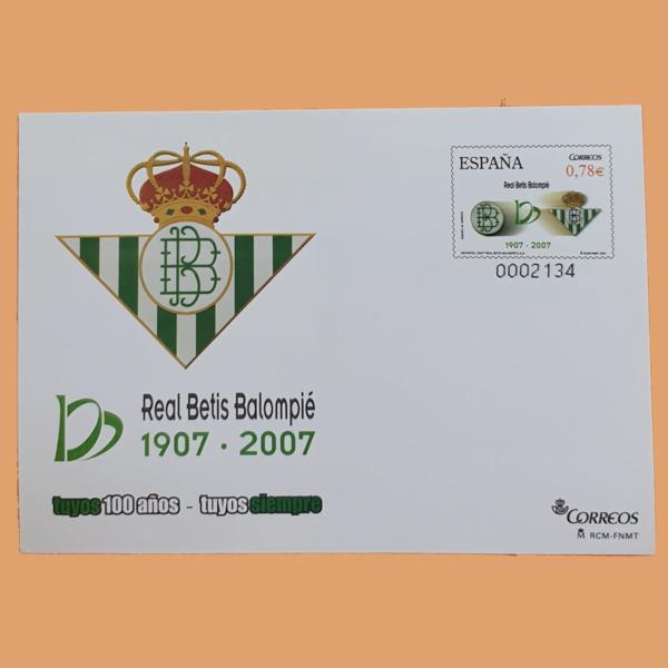 Sobre Enteros Postales 116-117. Exposición Centenario del Real Betis. Sevilla 2007