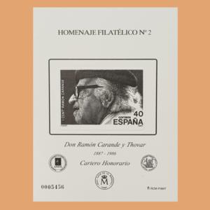 Homenaje Filatélico 2. Ramón Carande. 2006