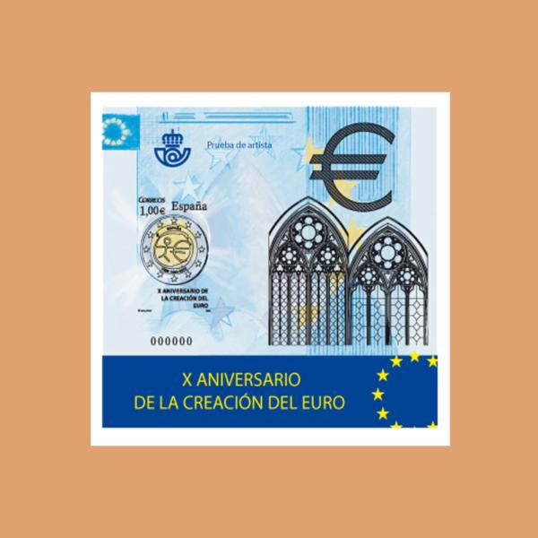 Prueba de Lujo 98. X ANIVERSARIO DE LA CREACIÓN DEL EURO. 2009