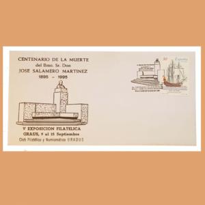 Sobre V Exposición Filatelica de Graus. 9-15 Septiembre 1995. SE0015