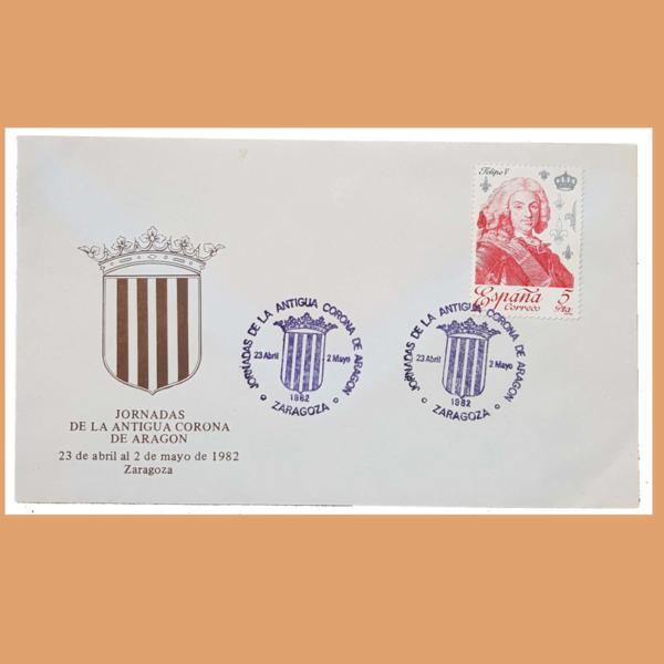 Sobre Serie Corona de Aragón. (Casa de Borbón) 23/4 - 2/5 1982