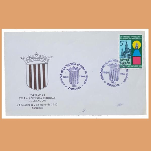 Sobre Antigua Corona de Aragón. Zaragoza, 23/4 - 2/5 1982