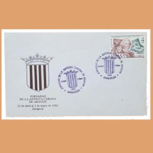 Sobre Antigua Corona de Aragón. (Amigos del País), Zaragoza, 23/4 - 2/5 1982