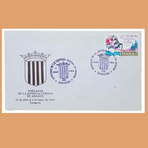 Sobre Antigua Corona de Aragón. (San Jorge) Zaragoza, 23/4 - 2/5 1982