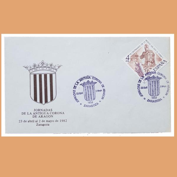 Sobre Antigua Corona de Aragón. (Jaime I) Zaragoza, 23/4 - 2/5 1982