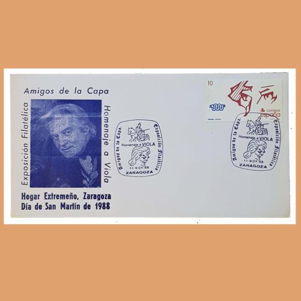 Sobre Homenaje a Viola. Zaragoza, 11 Noviembre de 1988