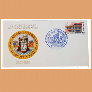 Sobre IV Centenario Universidad de Zaragoza. 22 Junio 1983