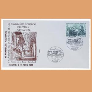 Sobre I Centenario Cámaras de Comercio. Madrid 8-10 Abril 1986