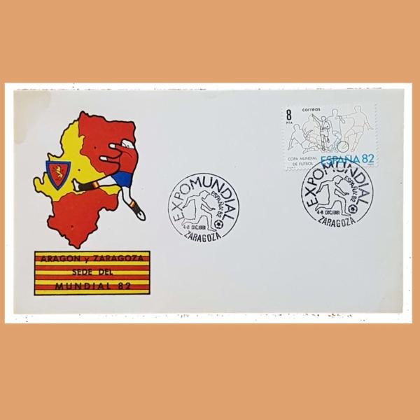 Sobre Expomundial. España 82. Zaragoza, 4-8 Diciembre 1981