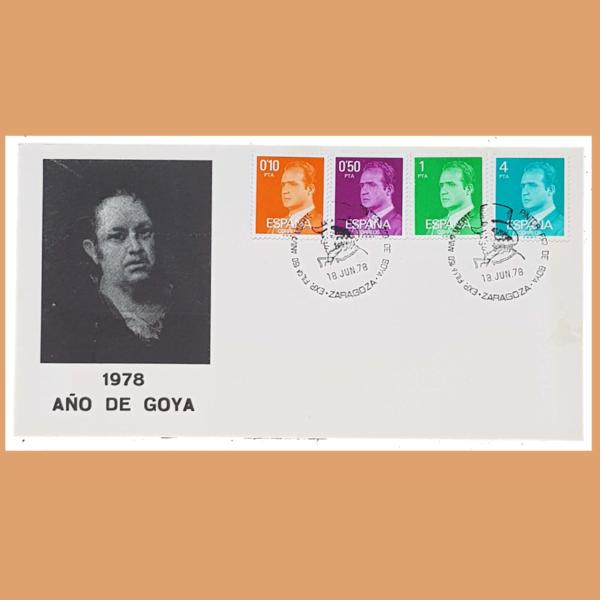 Sobre Exposición Filatélica Goya. Zaragoza, 18 Junio 1978