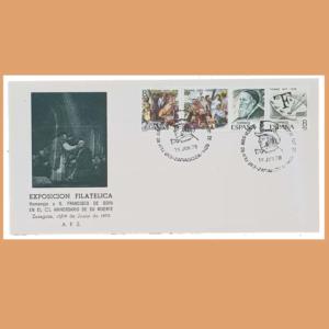 Sobre Exposición Filatélica. Goya. Zaragoza, 19 Junio 1978. SE0142
