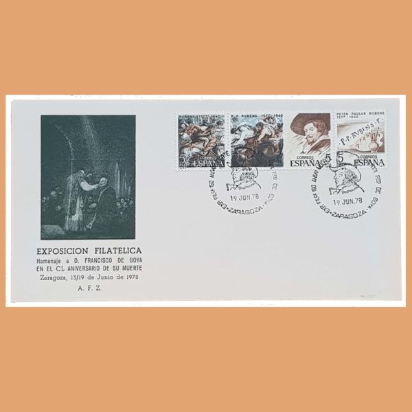 Sobre Exposición Filatélica. Goya. Zaragoza, 19 Junio 1978. SE0143