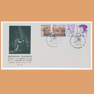 Sobre Exposición Filatélica. Goya. Zaragoza, 19 Junio 1978. SE0144