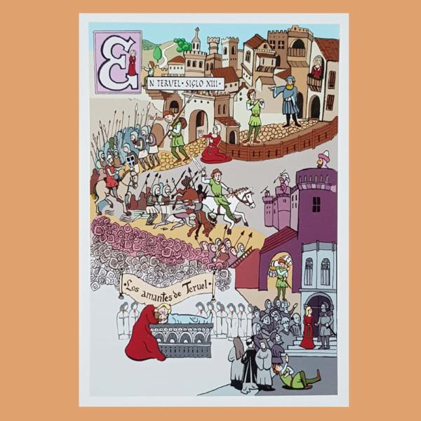 Tarjetas del Correo 039. Mitos y Leyendas. Los Amantes de Teruel. 2012