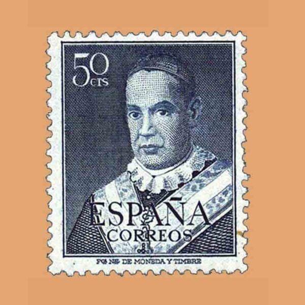 Edifil 1102. San Antonio María Claret. Sello 50 cts. ** 1951