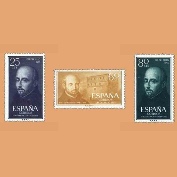 Edifil 1166-1168. Serie IV Centenario de la muerte de San Ignacio de Loyola. 3 valores. ** 1955
