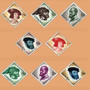 01224-01231. Serie IV Aniversario Carlos I de España. 8 valores. ** 1958