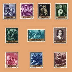 01270-01279. Serie Bartolomé Esteban Murillo. 10 valores. ** 1960