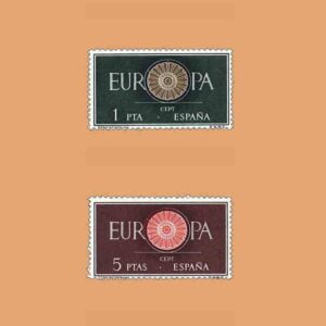 Edifil 1294-1295. Serie Europa CEPT. 2 valores. ** 1960