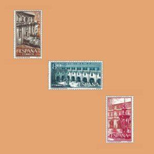 Edifil 1322-1324. Serie Real Monaterio de Samos. 3 valores. ** 1960