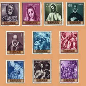 Edifil 1330-1339. Serie El Greco, Domeniko Theothocopulos. 10 valores. ** 1961
