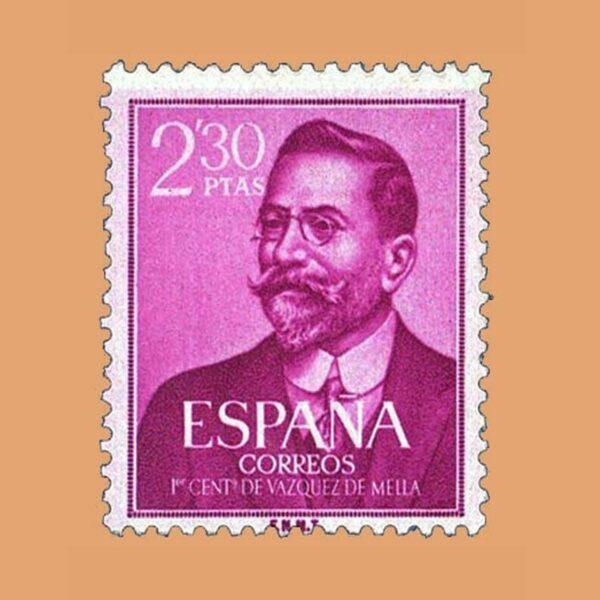 Edifil 1352. Centenario del nacimiento de Vazquez de Mella