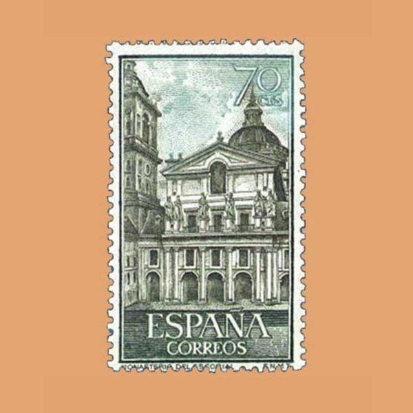 Edifil 1382. El Escorial. Patio de los Reyes. Sello 70 cts. ** 1961