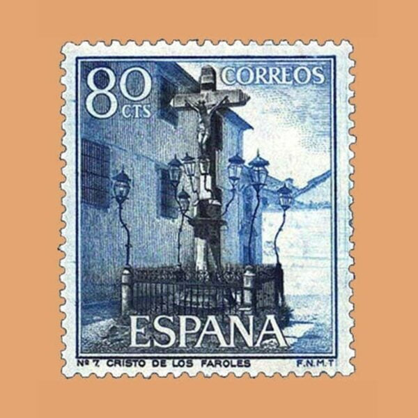 Edifil 1545. Paisajes y Monumentos. Cristo de Los Faroles. Sello 80 cts. ** 1964