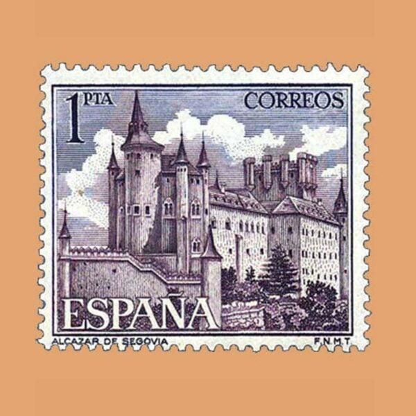 Edifil 1546. Paisajes y Monumentos. Alcázar de Segovia. Sello 1 pta. ** 1964