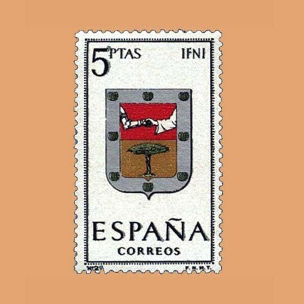 Edifil 1551. Escudos de Capitales de Provincias. IFNI. Sello 5 ptas. ** 1964