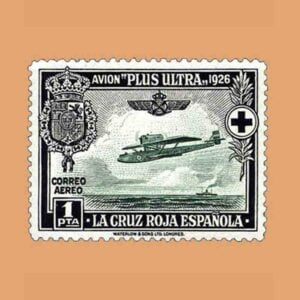 00347. Pro Cruz Roja española. Avión Plus Ultra. 1 pta. 1926