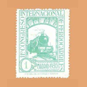 Edifil 469. XI Congreso Internacional de Ferrocarriles Sello 1 ct. 1930