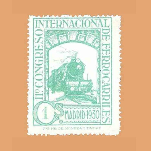 Edifil 469. XI Congreso Internacional de Ferrocarriles Sello 1 ct. 1930