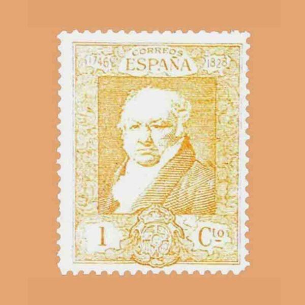 Edifil 499. Quinta de Goya en la exposición de Sevilla. Sello 1 ct. 1930