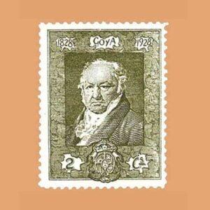 Edifil 501. Quinta de Goya en la exposición de Sevilla. Sello 2 cts. 1930