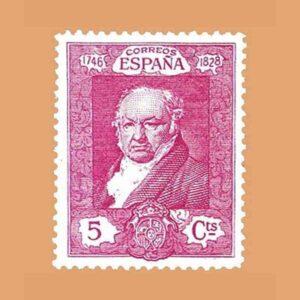 Edifil 502. Quinta de Goya en la exposición de Sevilla. Sello 5 cts. 1930