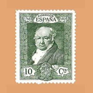 Edifil 504. Quinta de Goya en la exposición de Sevilla. Sello 10 cts. 1930