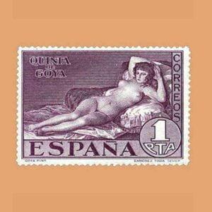 Edifil 513. Quinta de Goya en la exposición de Sevilla. Sello 1 pta. 1930