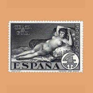Edifil 514. Quinta de Goya en la exposición de Sevilla. Sello 4 ptas. 1930