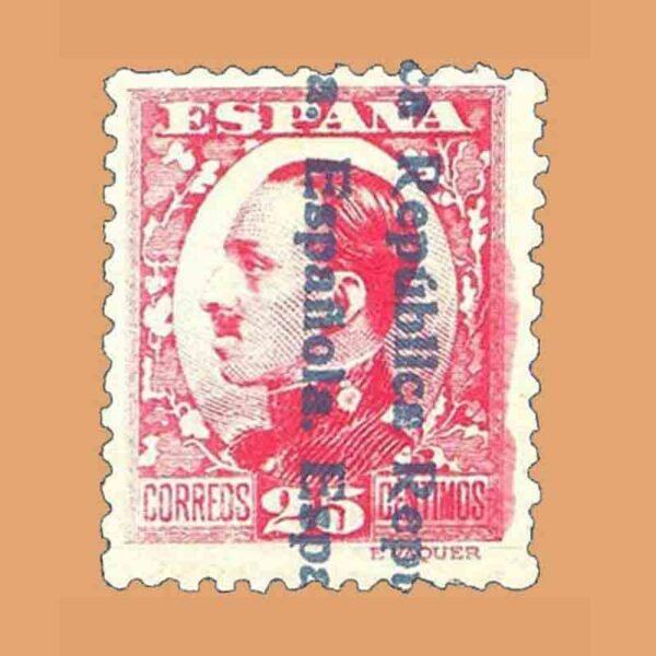 Edifil 598. II República. Alfonso XII. Sello de 25 cts. 1931