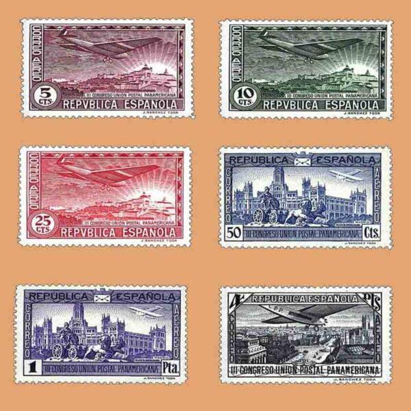 Edifil 614-619. Serie III Congreso de la Unión Postal Panamericana. 1931